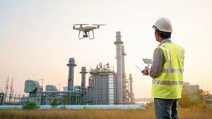 UAV with Pilot Inspecting