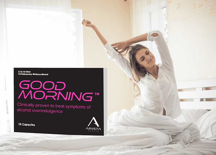 Woman waking up in the morning Good Morning