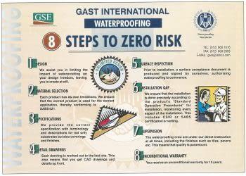 8 Steps to Zero Risk Waterproofing