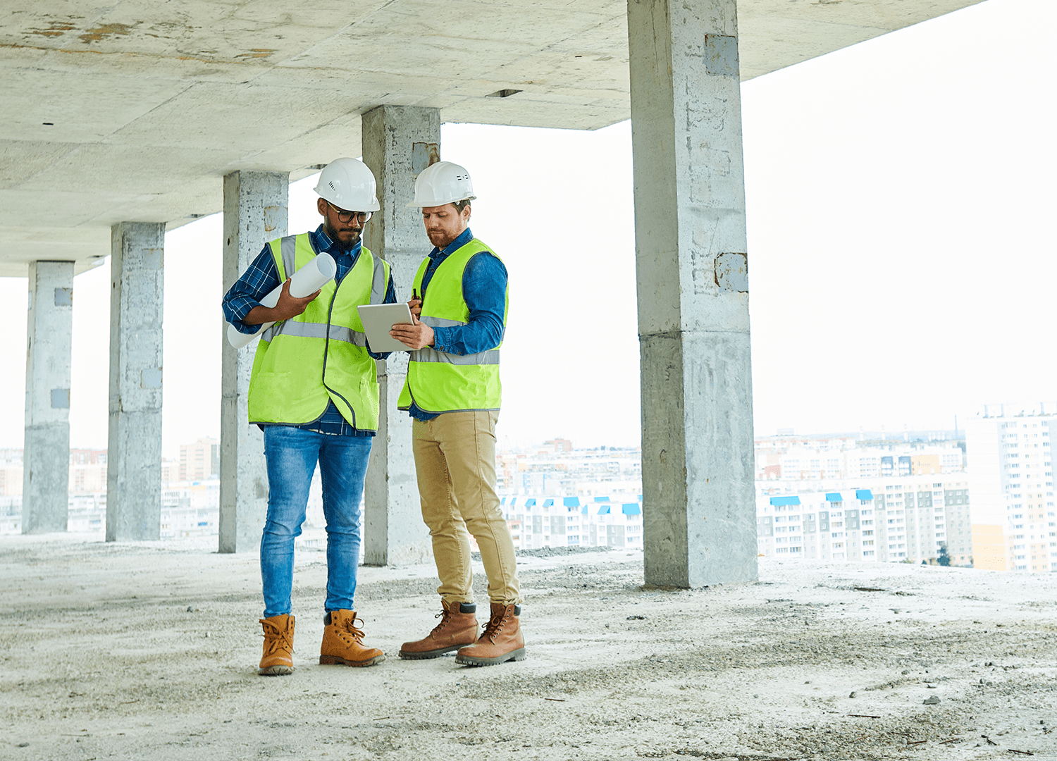 GAST engineers at construction site
